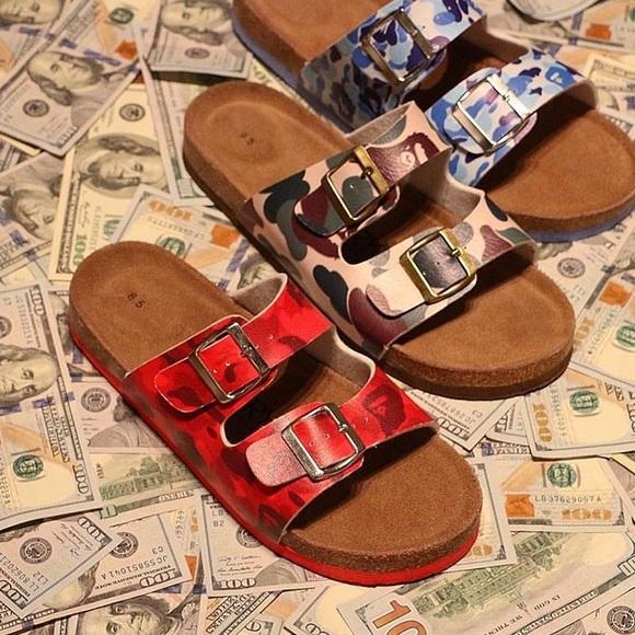 45307c420d5 Bape Other - BAPE Camo Sandals (Slippery Customs)